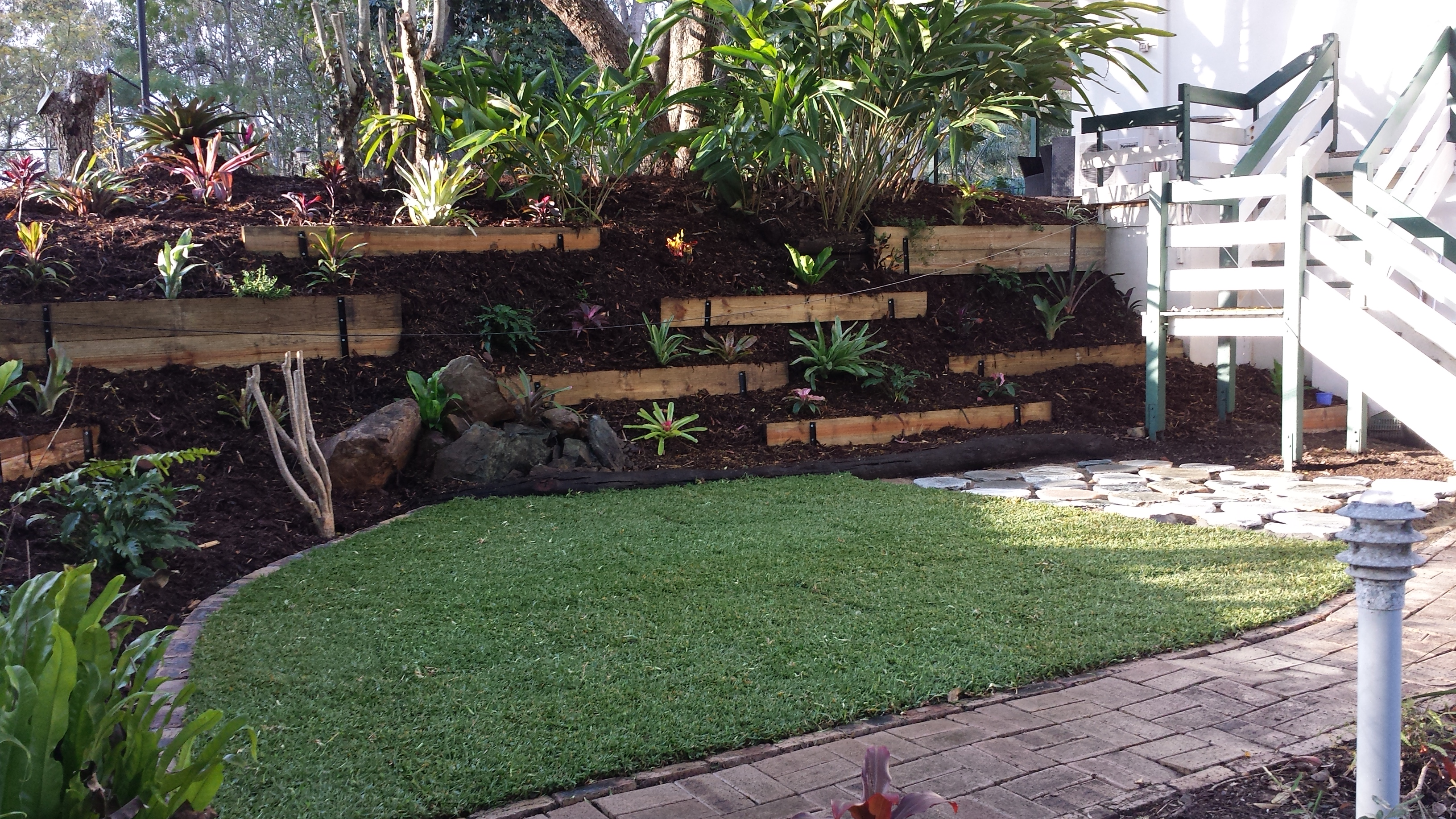 Garden designs garden ideas in brisbane queensland au for Landscape design brisbane