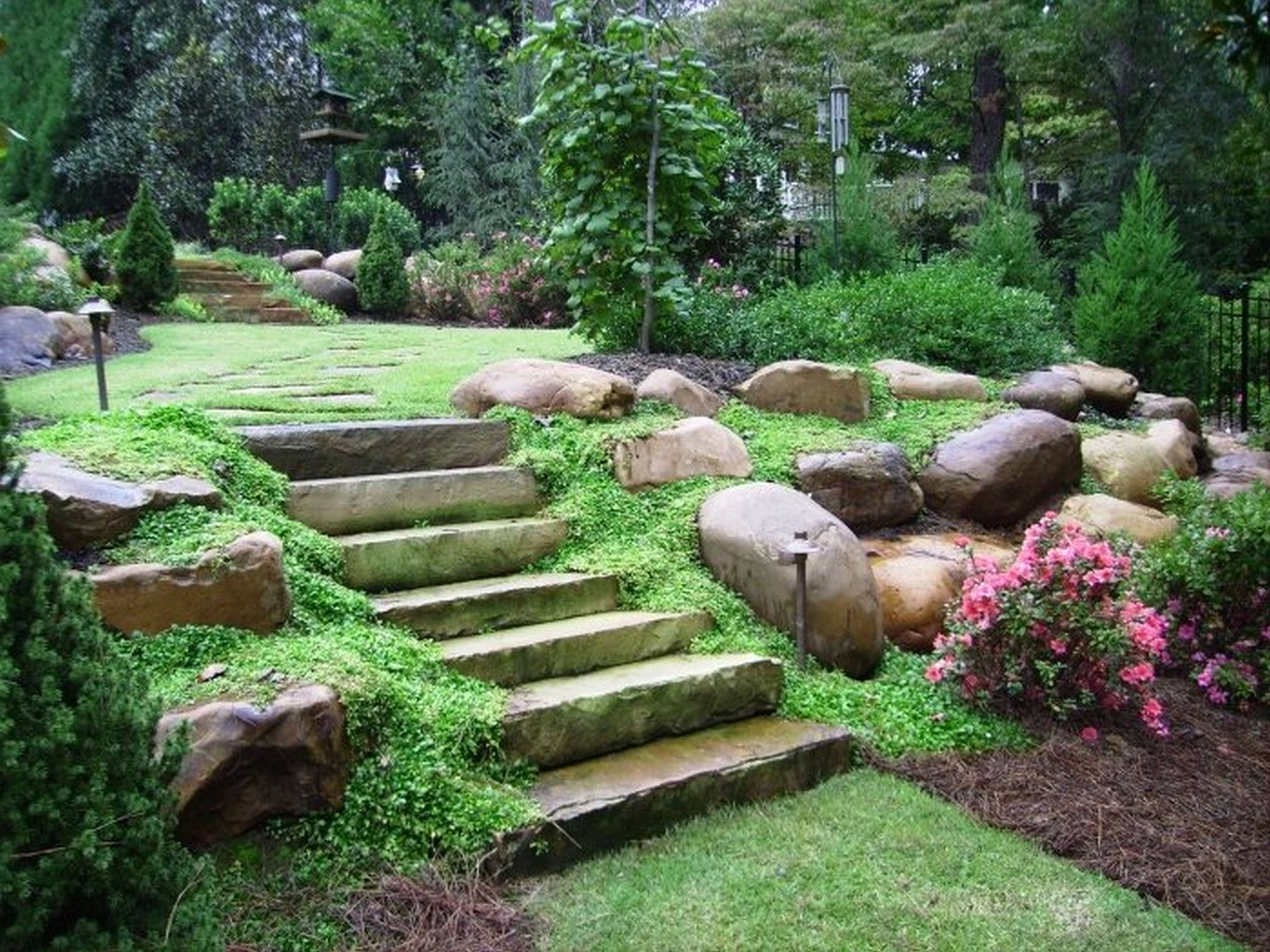 Landscape ideas landscaping design in brisbane queensland Backyard landscape photos ideas